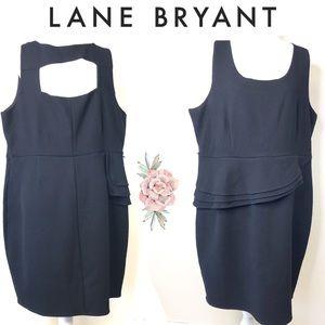 Lane Bryant black size ruffle Sheath dress size 22